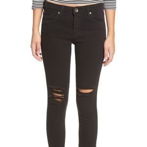 'Emma' Distressed High Rise Ankle Skinny Jeans